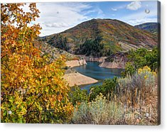 Autumn At Causey Reservoir - Utah Acrylic Print