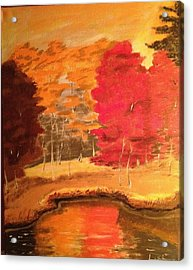 Acrylic Print featuring the painting Autumn by Brindha Naveen