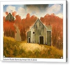 Autumn Rustic Barns Acrylic Print by Imran Virk