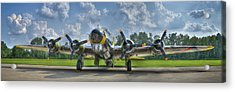 Acrylic Print featuring the photograph B-17 by Williams-Cairns Photography LLC