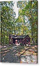 Babcock Cabin Acrylic Print by Steve Harrington