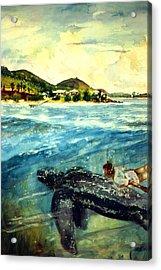 Back To Culebra Island Puerto Rico Acrylic Print by Estela Robles