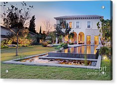 Backyard Of Upscale Residence Acrylic Print by Noam Armonn