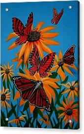Badsunflower Acrylic Print