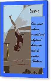 Balance Acrylic Print by Peter  McIntosh