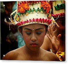 Balinese Dancer Acrylic Print by Ari Saaski