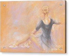Ballerina Acrylic Print by Jovica Kostic
