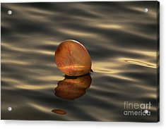 Balloons On The Water Acrylic Print by Odon Czintos