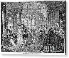 Ballroom, 1760 Acrylic Print by Granger