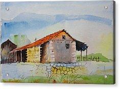 Bamboo House Acrylic Print by Vijayendra Bapte