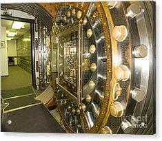 Bank Vault Interior Acrylic Print by Adam Crowley