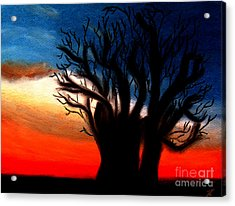 Acrylic Print featuring the pastel Baobab Tree by Ayasha Loya