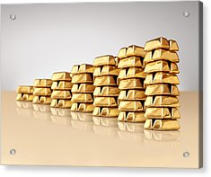 Bar Graph Of Gold Ingots Acrylic Print