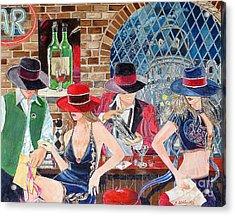 Bar Acrylic Print by Kostas Dendrinos