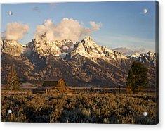 Barn And Corral On Mormon Row Acrylic Print by Gordon Ripley