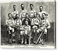 Baseball: Canada, 1874 Acrylic Print by Granger