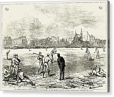 Baseball: England, 1874 Acrylic Print by Granger