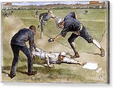 Baseball Game, 1885 Acrylic Print by Granger