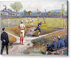 Baseball Game, C1887 Acrylic Print by Granger