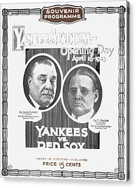 Baseball Program, 1923 Acrylic Print by Granger