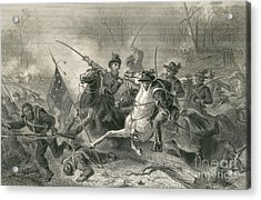 Battle Of Shiloh, Charge Of General Acrylic Print by Photo Researchers