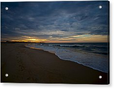 Beach Sunrise Acrylic Print by Mike Horvath