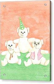 Acrylic Print featuring the drawing Bear Pyramid by Nareeta Martin