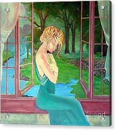 Beautiful Woman Acrylic Print by Kostas Dendrinos