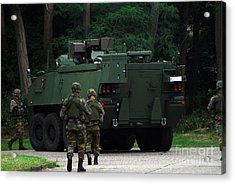 Belgian Infantry Soldiers Walk Acrylic Print