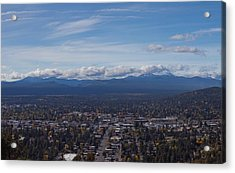 Bend Oregon From Pilot Butte Acrylic Print by Twenty Two North Photography