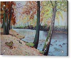 Beside The Still Waters Acrylic Print by Bonita Waitl