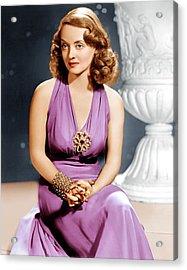 Bette Davis, Ca. 1940s Acrylic Print by Everett