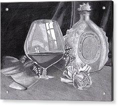Between Friends - A 3 Million Dollar Bottle Of Cognac Acrylic Print by Mickael Bruce