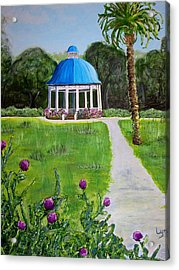 Bev's Bandstand Acrylic Print by Lyn Calahorrano
