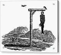 Bewick: Hanged Man Acrylic Print by Granger
