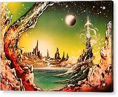 Beyond Earth Acrylic Print by Tony Vegas