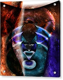Beyond The Mask Acrylic Print by Christopher Gaston