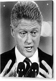 Bill Clinton Acrylic Print by Everett