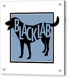 Black Lab Acrylic Print by Geoff Strehlow