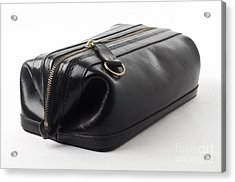 Black Leather Bag Acrylic Print by Blink Images