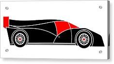 Black Rocket Racing Car Virtual Car Acrylic Print by Asbjorn Lonvig