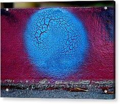 Blue Circle  Acrylic Print by Ludmil Dimitrov