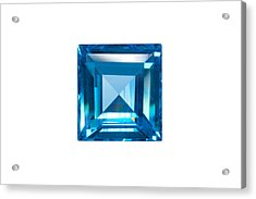 Blue Sapphire Isolated Acrylic Print