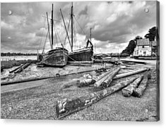 Boats And Logs At Pin Mill  Acrylic Print
