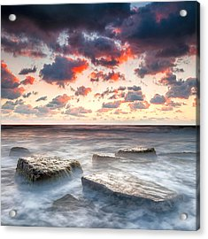 Boiling Sea Acrylic Print by Evgeni Dinev