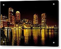 Boston At Night Acrylic Print by Gordon Ripley