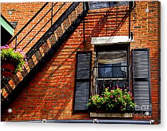 Boston House Fragment Acrylic Print by Elena Elisseeva