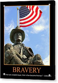 Bravery Acrylic Print by PMG Images