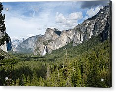 Bridal Veil Falls From Tunnel View Acrylic Print