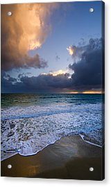 Brighton Beach Sunset Wa Acrylic Print by Imagevixen Photography